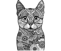 Crafty Individuals Happy Cat Unmounted Rubber Stamps (CI-523)