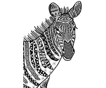 Crafty Individuals Happy Zebra Unmounted Rubber Stamps (CI-566)