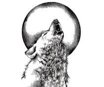 Crafty Individuals Howling Wolf Unmounted Rubber Stamps (CI-528)