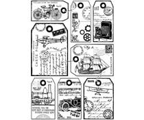 Crafty Individuals It's a Man's World Unmounted Rubber Stamps (CI-428)