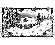 Crafty Individuals Little Cottage in the Snow Unmounted Rubber Stamps (CI-463)
