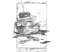 Crafty Individuals Of the Sea Unmounted Rubber Stamps (CI-559)