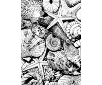 Crafty Individuals Seaside Treasures Unmounted Rubber Stamps (CI-496)
