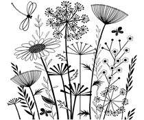 Crafty Individuals Summer Meadow Unmounted Rubber Stamps (CI-385)
