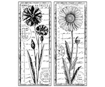 Crafty Individuals Tall Wild Flowers Unmounted Rubber Stamps (CI-185)