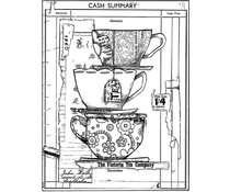 Crafty Individuals Time for Tea Unmounted Rubber Stamps (CI-547)