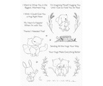 My Favorite Things Hugs Make Everything Better Clear Stamps (SY-31)