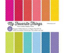 My Favorite Things Poppin' Polka Dots 6x6 Inch Paper Pad (EP-76)