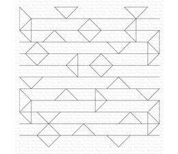 My Favorite Things Abstract Triangle Background Rubber Stamps (BG-141)