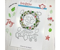 Time For Tea Winter Wishes Wreath A5 Metal Dies (T4T/548/Win/Die)