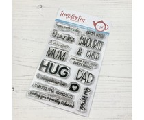 Time For Tea Mum & Dad Sentiment Clear Stamps (T4T/607/Mum/Cle)
