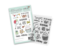 Polkadoodles Big Birthday Surprise Clear Stamps (PD8135)