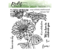 Picket Fence Studios Wild Daisies 6x6 Inch Clear Stamps (F-150)