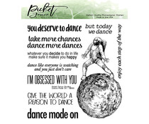 Picket Fence Studios Dance Mode On 6x6 Inch Clear Stamps (BB-165)