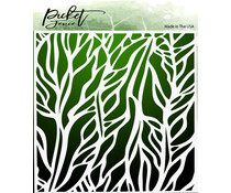 Picket Fence Studios Details of a Wing 6x6 Inch Stencils (SC-234)