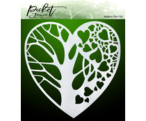Picket Fence Studios Tree of Hearts 6x6 Inch Stencils (SC-228)