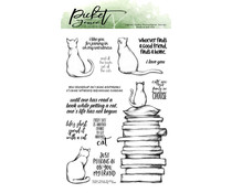 Picket Fence Studios Cats Are Family 4x6 Inch Clear Stamps (A-156)
