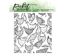 Picket Fence Studios More Hot Chicks 4x4 Inch Clear Stamps (A-150)