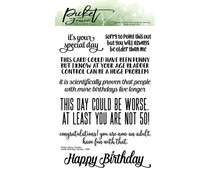 Picket Fence Studios Inside Quotes: Birthday 4x6 Inch Clear Stamps (S-187)
