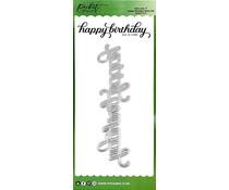 Picket Fence Studios Slim Line Happy Birthday Word 4x10 Inch Dies (SDCS-115)
