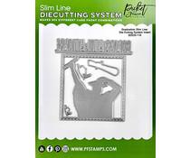 Picket Fence Studios Slim Line Die Cutting System Insert 4x4 Inch Graduation (SDCS-110)