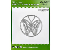 Picket Fence Studios Slim Line Die Cutting System Insert 4x4 Inch Monarch Butterfly (SDCS-111)
