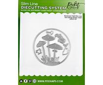 Picket Fence Studios Slim Line Die Cutting System Insert 4x4 Inch Mushroom Field (SDCS-107)