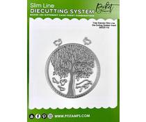 Picket Fence Studios Slim Line Die Cutting System Insert 4x4 Inch Tree Scenery (SDCS-112)