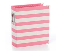 Simple Stories SN@P! Designer Binder 6x8 Inch Pink Stripe (3996)