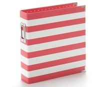 Simple Stories SN@P! Designer Binder 6x8 Inch Red Stripe (10774)