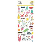 Simple Stories Sunkissed Puffy Stickers (15120)