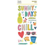 Simple Stories Sunkissed Foam Stickers (15119)