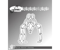 By Lene Wooden Figure-1 Clear Stamps (BLS1167)