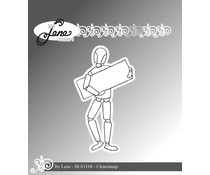 By Lene Wooden Figure-2 Clear Stamps (BLS1168)