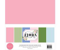 Carta Bella Flora No.4 12x12 Inch Coordinating Solids Paper Pack (CBFLN135015)