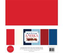 Carta Bella God Bless America 12x12 Inch Coordinating Solids Paper Pack (CBGBA136015)
