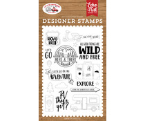 Echo Park Road Trip Clear Stamps (LGA242041)