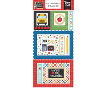 Echo Park I Love School Chipboard Frames (SCH243065)