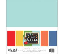 Echo Park I Love School 12x12 Inch Coordinating Solids Paper Pack (SCH243015)