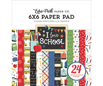 Echo Park I Love School 6x6 Inch Paper Pad (SCH243023)