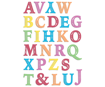 LDRS Creative Chloe Alpha Uppercase Clear Stamps (LDRS3298)
