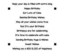 LDRS Creative Happy Birthday Sentiment Stack Clear Stamps (LDRS3300)
