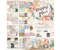 Memory Place Happy Place 12x12 Inch Journaling Cards Paper Pack (MP-60564)