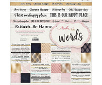 Memory Place Words 12x12 Inch Paper Pack (MP-60552)