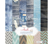 Memory Place Shades of Denim 12x12 Inch Paper Pack (MP-60551)