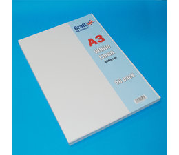 Craft UK A3 White Linen Cardstock Pack (CUK2013)