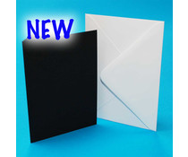 Craft UK Cards & Envelopes 5x7 Inch Black/White (CUK2311)