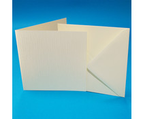 Craft UK Cards & Envelopes 6x6 Inch Ivory Linen (CUKW104)