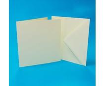 Craft UK Cards & Envelopes 7x7 Inch Ivory (CUK1065)