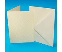 Craft UK Cards & Envelopes A6 Ivory Hammered (CUKW110)